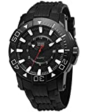 Shark Army Men's Military Quartz Sport Watch Date Display Black Rubber Band SAW209