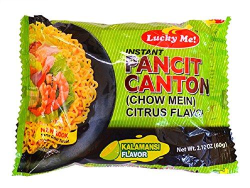 Pancit Canton Noodles - Lucky Me! Instant Noodle Soup (Kalamansi, 30 Pack)