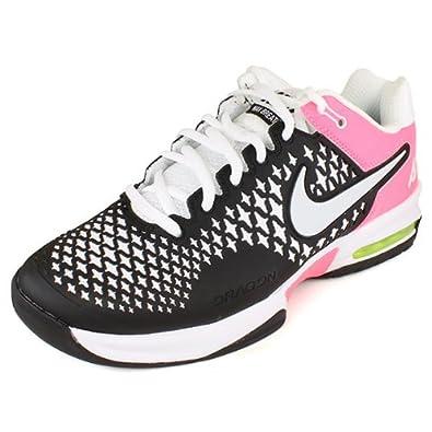 official photos b0a35 97866 ... free shipping nike womens air max cage tennis shoeblack polarized pink  white pure 005f8 4b57e