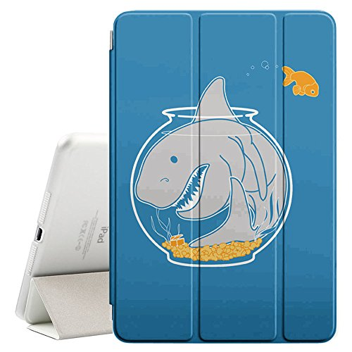 STPlus Shark Tank Aquarium Funny Smart Cover With Back Case + Auto Sleep/Wake Funtion + Stand for Apple iPad Air 2 ()