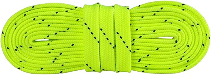 Details about  /One Pair Hockey Skate Shoe Lace Wax Shoelace Straps Sports Training 300cm Green