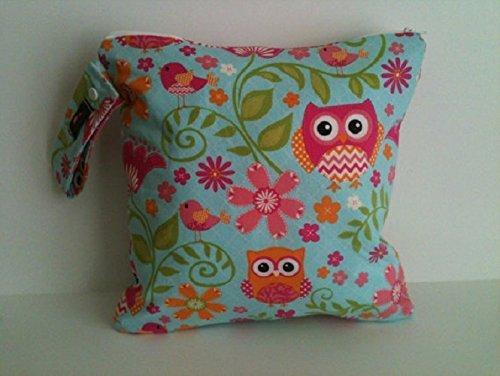 Wet Bag, Cloth Diaper Wet Bag, Wet dry Bag, Diaper Keeper, Pink Owl wet bag, Baby Gift