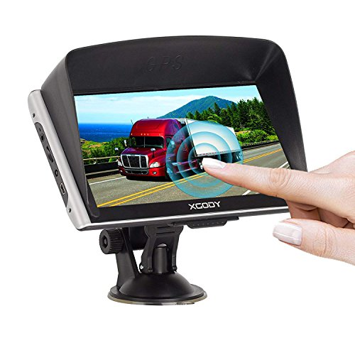 Xgody 8GB ROM 256RAM Capacitive Touchscreen 826 7Inch SAT NAV Truck Lorry GPS Navigation System Navigator with FM US Lifetime Maps Update by XGODY
