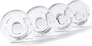 Jillmo 4 Pack Glass Fermentation Weights with Easy Grip Handle for Wide Mouth Mason Jar, Perfect for Fermenting Sauerkraut, Vegetables, Pickles and Other Fermented Food