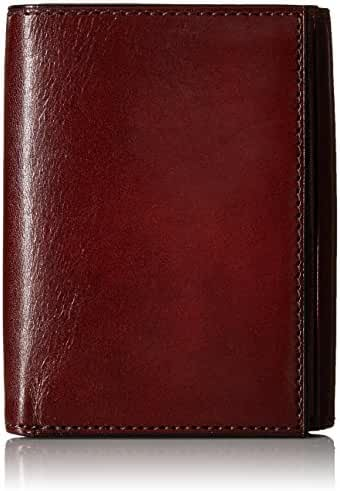 Bosca Mens Old Leather Collection Double ID Trifold Wallet