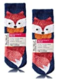 Bath and Body Works 2 Pack Fox Shea-Infused Lounge Socks.