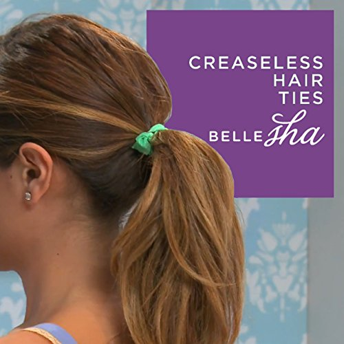 Amazon.com   No Crease Hair Ties for Ladies Girls Babies Toddlers Thick Hair    Elastic Ponytail Bands Ribbon Ties by Bellesha   Ponytail Holders   Beauty b8727cd717f