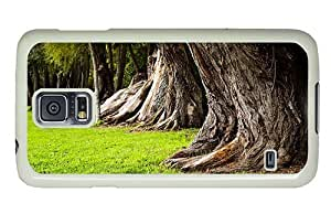 Hipster Samsung Galaxy S5 Case shop cover Old Tree Trunks PC White for Samsung S5