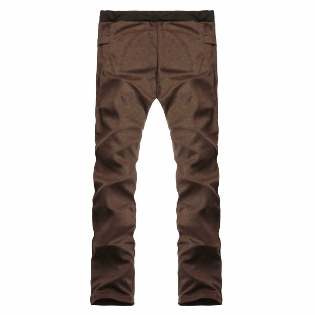 Pantalones de Hombre Pantalones de Trekking Pantalones de Softshell Resistente al Viento Transpirable Lana Forrado Pantalones de Escalada Xinantime
