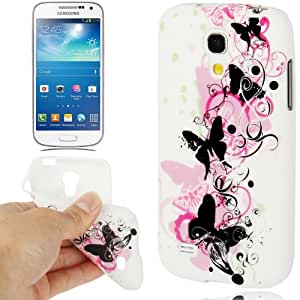 JUJEO Colorful Butterfly Pattern TPU Case for Samsung Galaxy S IV Mini/I9190 - Non-Retail Packaging - Multi Color