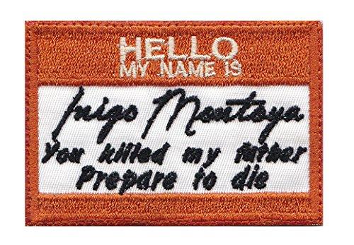 Mini Inigo Montoya Name Tag Tactical Morale Hook+Loop Patch
