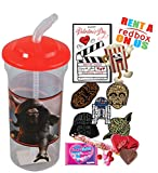 Disney Star Wars Valentines Day Redbox Movie Night Fun Sip Favor Cup! Pre-Filled & Ready For Giving! Includes Keepsake Tumbler, Redbox Rental, Popcorn, Candy & Favors!