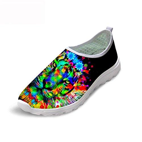 Estampado Correr Sin Ca45 Piup Transpirables Mujer Cordones Zapatillas Animales Cómodas Con Para De 4YYSnqT