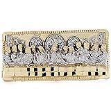 10k 2tone Gold Religious Last Supper 2 Finger Mens Ring