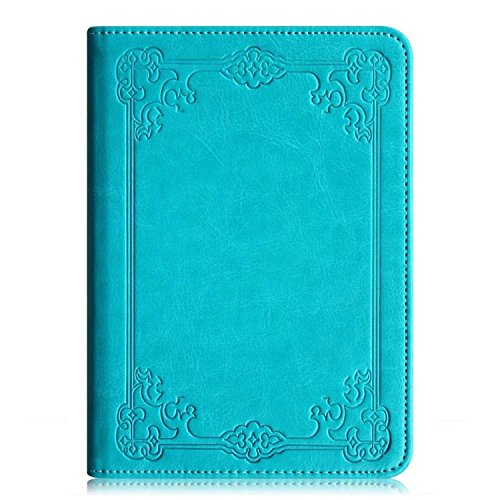 """Fintie Kindle Paperwhite Folio Case - The Book Style PU Leather Cover with Auto Sleep/Wake Feature for All-New Amazon Kindle Paperwhite (Fits All versions: 2012, 2013, 2014 and 2015 All-New 300 PPI Versions with 6"""" Display and Built-in Light), Vintage Winter Ice"""
