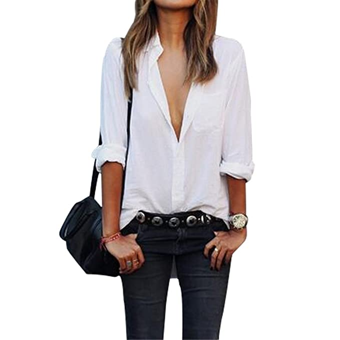 size 40 b2e46 d1283 Evishine Damen Bluse Sommer Casual Chiffon Blusen Hemd Shirts Tops