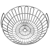 SELEWARE Innovative Stainless Steel Lump Charcoal Fire Basket, Grill Baskets for The Large Big Green Egg, Primo Kamado and Large Grill Dome, 14 Inch Diameter