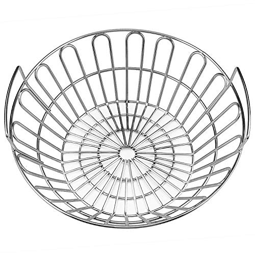 SELEWARE Innovative Stainless Steel Lump Charcoal Fire Basket, Grill Baskets for The Large Big Green Egg, Primo Kamado and Large Grill Dome, 14 Inch - Basket Coal