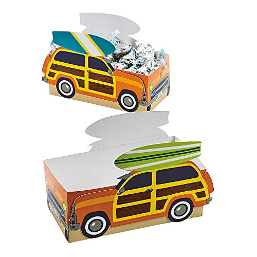 Fun Express - Surfs Up Favor Boxes for Birthday - Party Supplies - Containers & Boxes - Paper Boxes - Birthday - 12 Pieces]()
