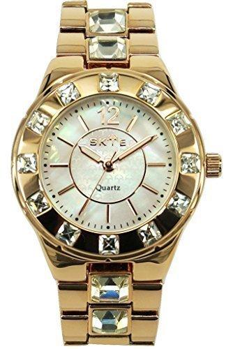 Analog White Mop (SKYE Exquisite White MOP Dial Lady's Analog-Quartz Watch Rose)