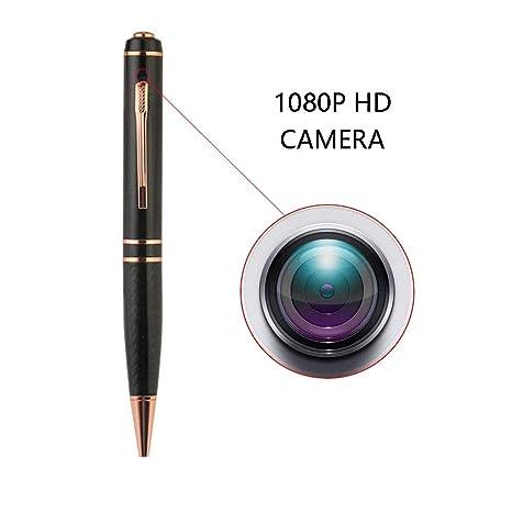 OMZBM Actualizado Pluma Espía con Vigilancia Cámara Oculta-128GB-1080P Full HD Grabador Pen