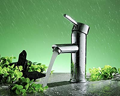 Greenspring Centerset Single Handle Bathroom Sink Vessel Faucet Stainless Steel Basin Mixer Taps