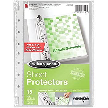 Amazon.com: Tigre A5 Clear punched Poly Bolsillos – Pack de ...
