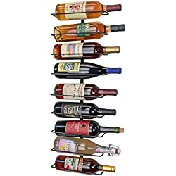 Southern Homewares Wall Mount Wine Bottle Storage Rack, Holds up To 9 Bottles