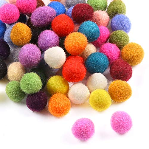 Sntieecr 120 Pieces Wool Felt Balls Handmade Felted Pom Poms Pure Wool Beads Felt Ball for Craft Making (10mm, Mixed Color)
