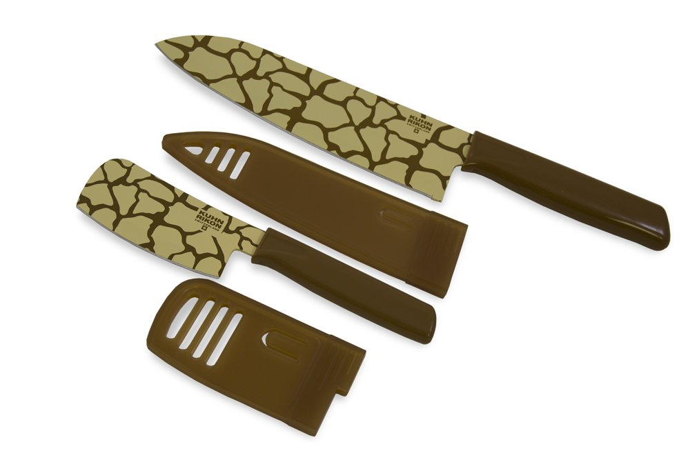 Kuhn Rikon 26085 Safari Chef's and Nakiri Colori, Giraffe
