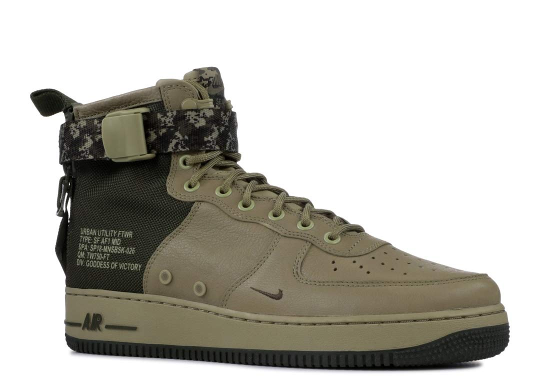 4bb6690550 Galleon - Nike Men's SF AIR Force 1 MID Shoe Neutral Olive/Cargo Khaki (13  D(M) US)