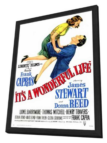 It's a Wonderful Life - 27 x 40 Framed Movie Poster by Movie Posters