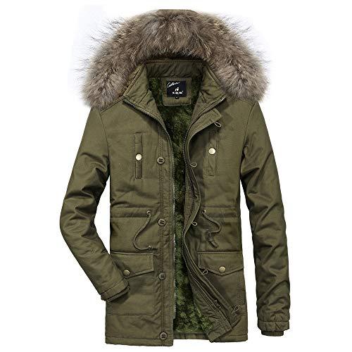 Outwear Manteau Top hiver À Du Ajouter Blouse Armée Casual Épaissir Automne Pour Velours Shennanji Chaud Verte Capuche Homme O4dxqO