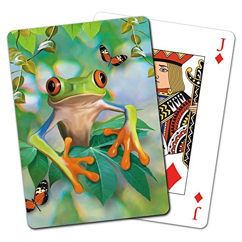 Tree-Free Greetings Deck of Playing Cards, 2.5 x 0.8 x 3.5 Inches, Frog Framed (CD15911)