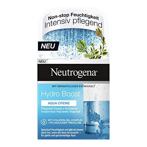 Neutrogena Hydro Boost Aqua Creme, Gesichtscreme, Gesichtspflege, Trockene Haut, Ölfrei, Parfümfrei, 50 ml