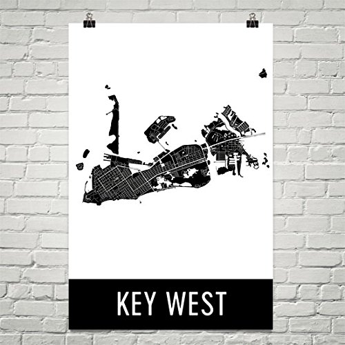 Key West Poster, Key West Art Print, Key West Wall Art, Key West Map,