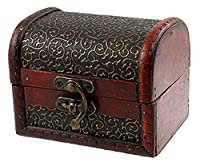 niceeshop(TM) Retro Stye Embossed Flower Wooden Jewelry Box Case for Ladies