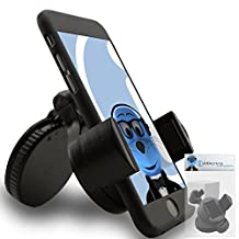 iTALKonline iHOLDER Sony Ericsson LT28H Xperia ion Black COMPACT 360 Degrees Rotating In Car Case Compatible Wind Screen Dashboard Suction Mount Holder