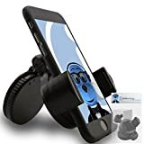 iTALKonline iHOLDER Samsung Galaxy Ace 3 GT-S7272 Black COMPACT 360 Degrees Rotating In Car Case Compatible Wind Screen Dashboard Suction Mount Holder
