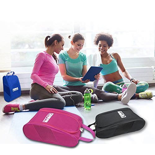Portable Oxford Travel Shoe Tote Bag, Waterproof Shoe Packing Storage Gym Organizer by Ailaka (Image #6)