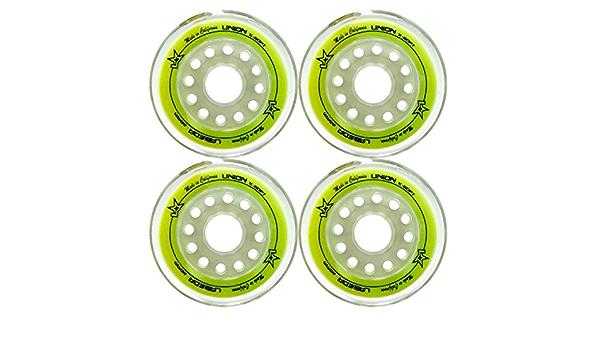 Ruedas de patines de hockey en línea Labeda Unión Amarillo 80 mm Set de 4: Amazon.es: Deportes y aire libre