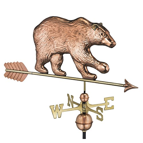 Good Directions Bear Weathervane with Arrow, Pure (Bear Weathervane)
