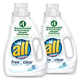 all Liquid Laundry Detergent, Free Clear for Sensitive Skin, 46.5 Fluid Ounces, 2 Count, 62 Total Loads