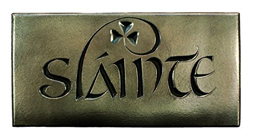 Slainte Irish Blessing Good Health Bronzed Plaque – Made in Ireland