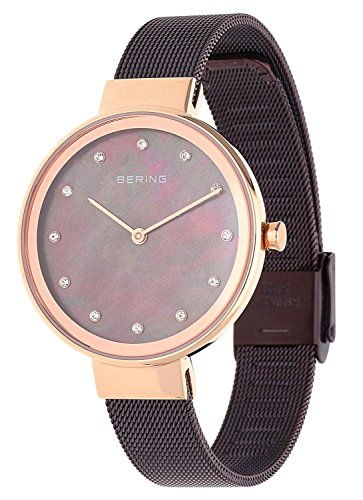 BERING Time 12034-265 Womens Classic Collection Watch with Mesh Band and scratch resistant sapphire crystal. Designed in Denmark.