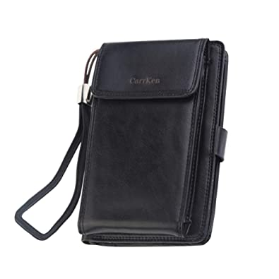 a27a890ca810 Amazon.com: Purse Organizer,Men Wallets With Coin Pocket Zipper ...