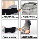 COOVAN Mens Athletic Low Cut Socks Men 6 Pack Ankle Mesh Cushioned Breathable Running Tab Sock