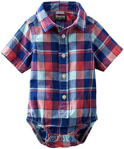 OshKosh B'gosh Baby Boys' Check Woven Shirt (Baby) - Plaid - 3 Months