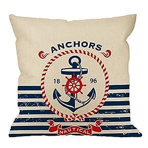 51TifkNRPcL._SS300_ 100+ Nautical Pillows & Nautical Pillow Covers