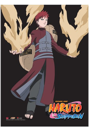 33 by 44-Inch 5248 Great Eastern Entertainment Naruto Shippuden S Gaara Wall Scroll